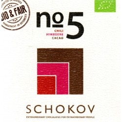 "Schokov No. 5 ""Himbeere & Chili"" 70% (AT-BIO-401)"