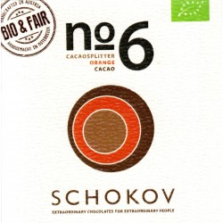 "Schokov No. 6 ""Kakaosplitter & Orange"" 70% (AT-BIO-401)"