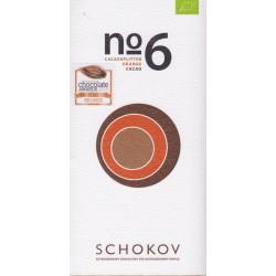 """Schokov No. 6 """"Kakaosplitter & Orange"""" 70%"""