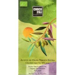 "chocoLate orgániko ""dunkle Schokolade mit Olivenöl"""