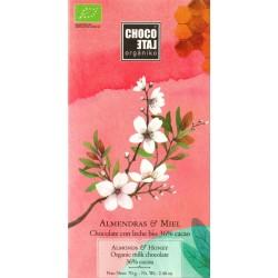 """chocoLate orgániko """"Vollmilchschokolade mit Honig und Mandeln"""""""