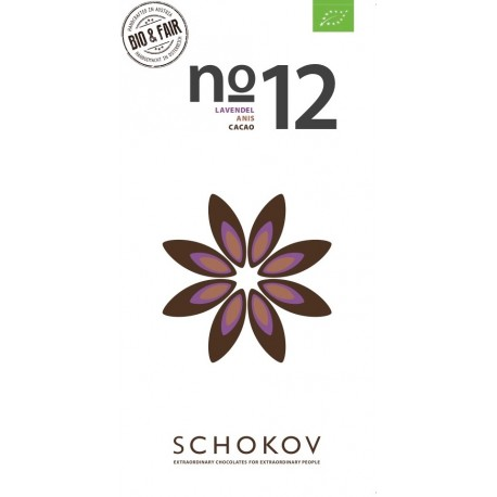 Schokov No. 12 70% mit Lavendel & Anis (AT-BIO-401)