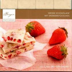 """Berger """"Weiße Schokolade mit Erdbeerstücken"""""""