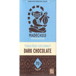 "Madécasse ""Toasted Coconut - Dark Chocolate 70%"""